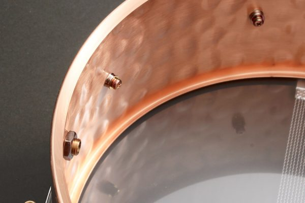 Hammered Bronze Snare Drum Shell