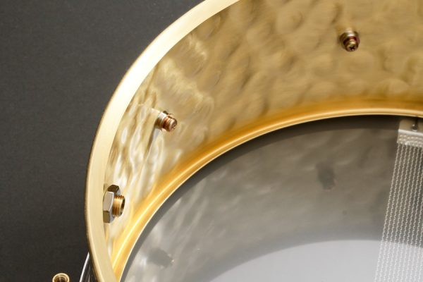 Hammered Brass Snare Drum Shell