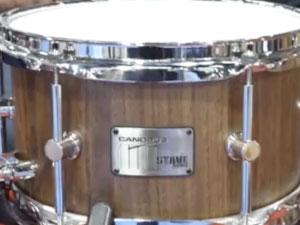 プロトタイプ Harvey Masonシグネチャーモデル スネアドラム Stave Walnut 10 x 6
