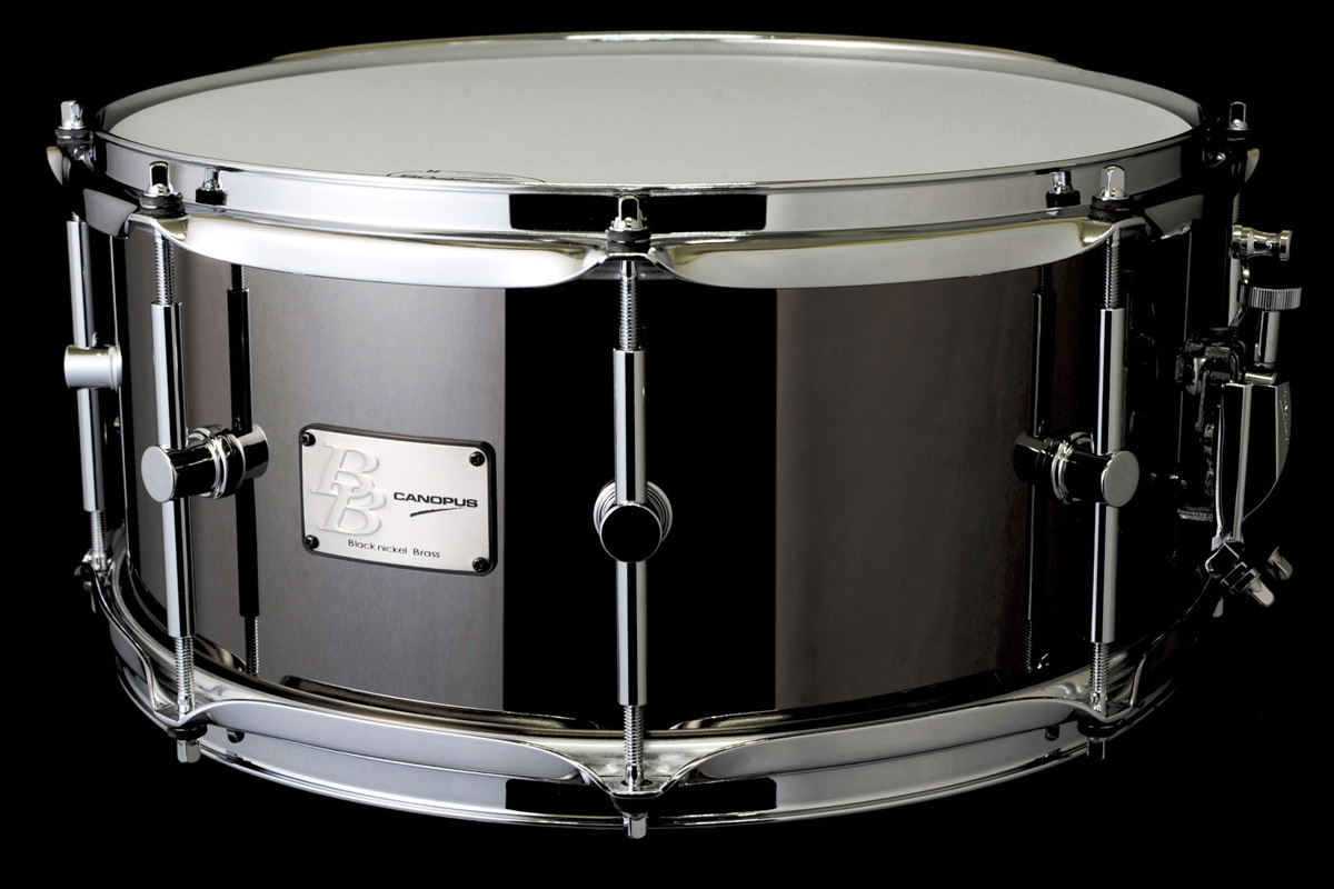 Black Nickel Brass Snare Drum BB-1465