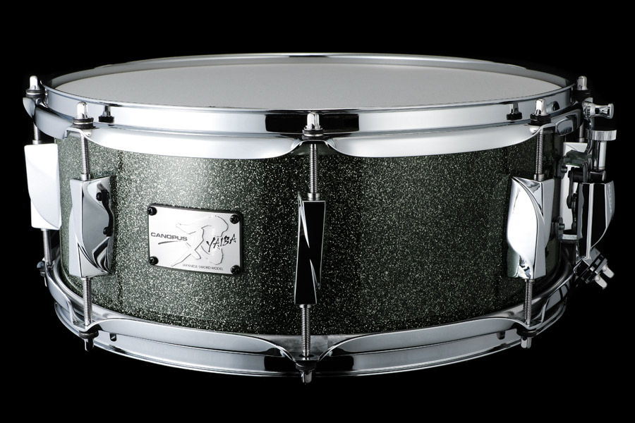 YAIBA II Maple Snare Drum JSM-1455 Yaiba Gray Sparkle LQ