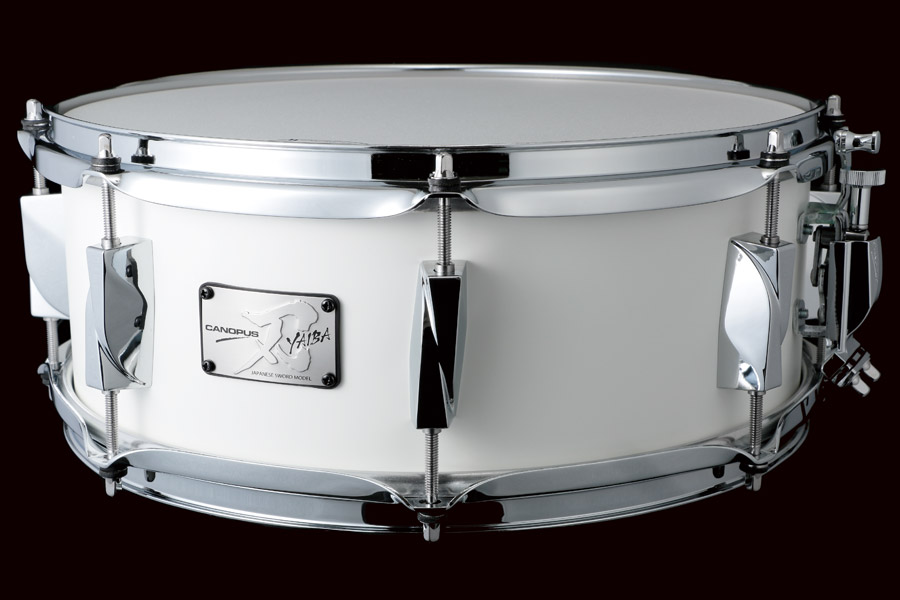 YAIBA II Maple Snare Drum JSM-1455 Mat White LQ