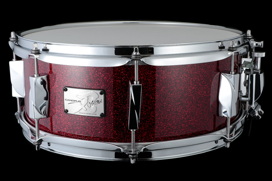 YAIBA II Maple Snare Drum JSM-1455 Dark Red Sparkle LQ