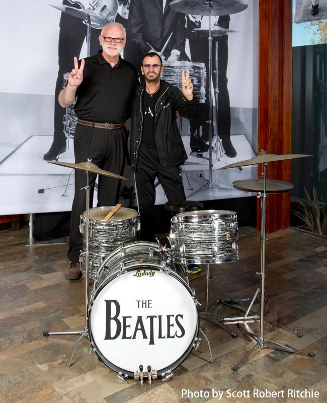 Gary Astridge and Ringo Starr
