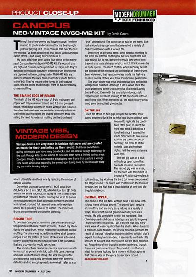 Modern Drummer Review