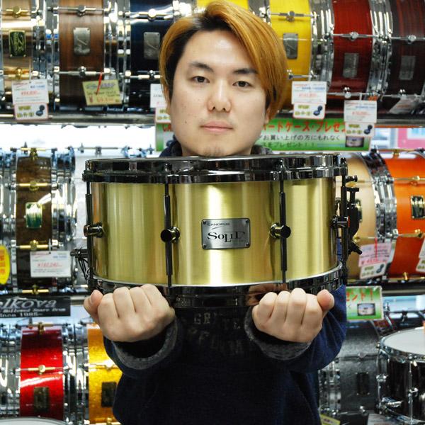 中村奏太 3mm Solid Brass スネアドラム