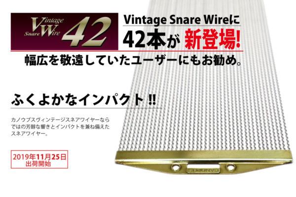 ヴィンテージ・スネアワイヤー 42 CPSL-14DR42
