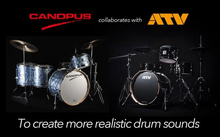 電子ドラムメーカーのATVとカノウプスが提携